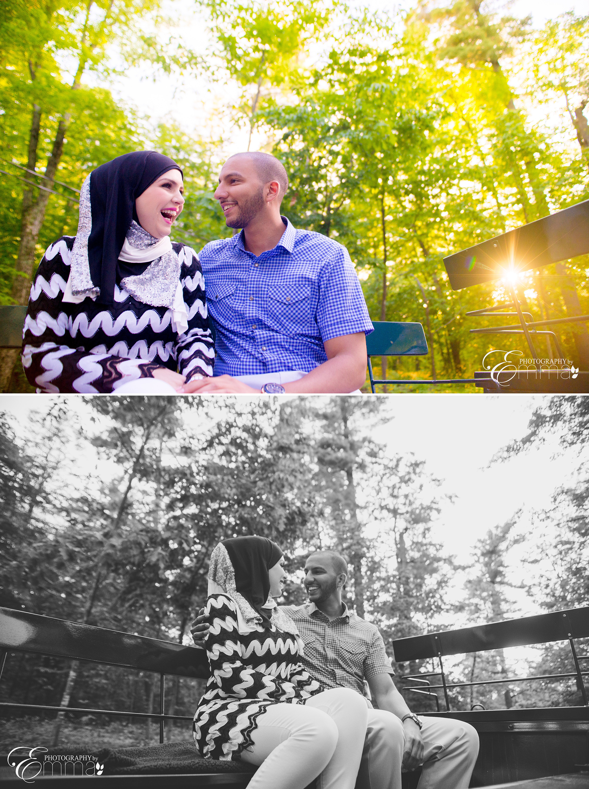 Summer engagement session at Gatineau Park, Muslim Couple - Couple in Love - Kingsmere