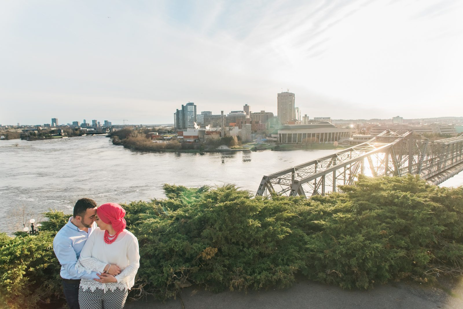 nepean point engagement ottawa photography location