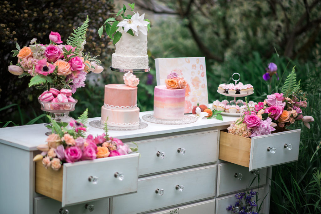 Southern Bridal Brunch - dessert table - drawers of dessert. Unique dessert table idea