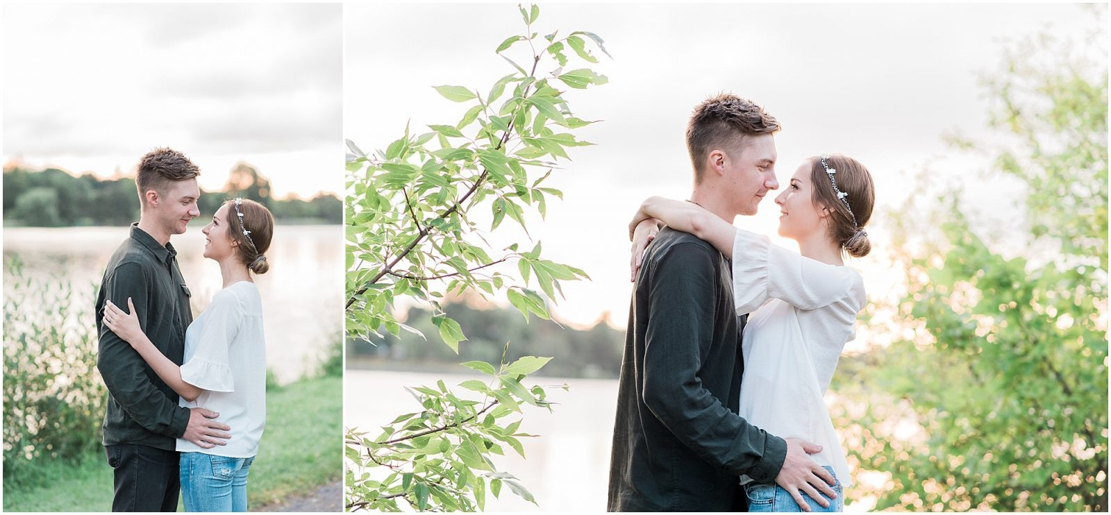 ottawa engagement - sunrise at dows lake arboretum - casual engagement