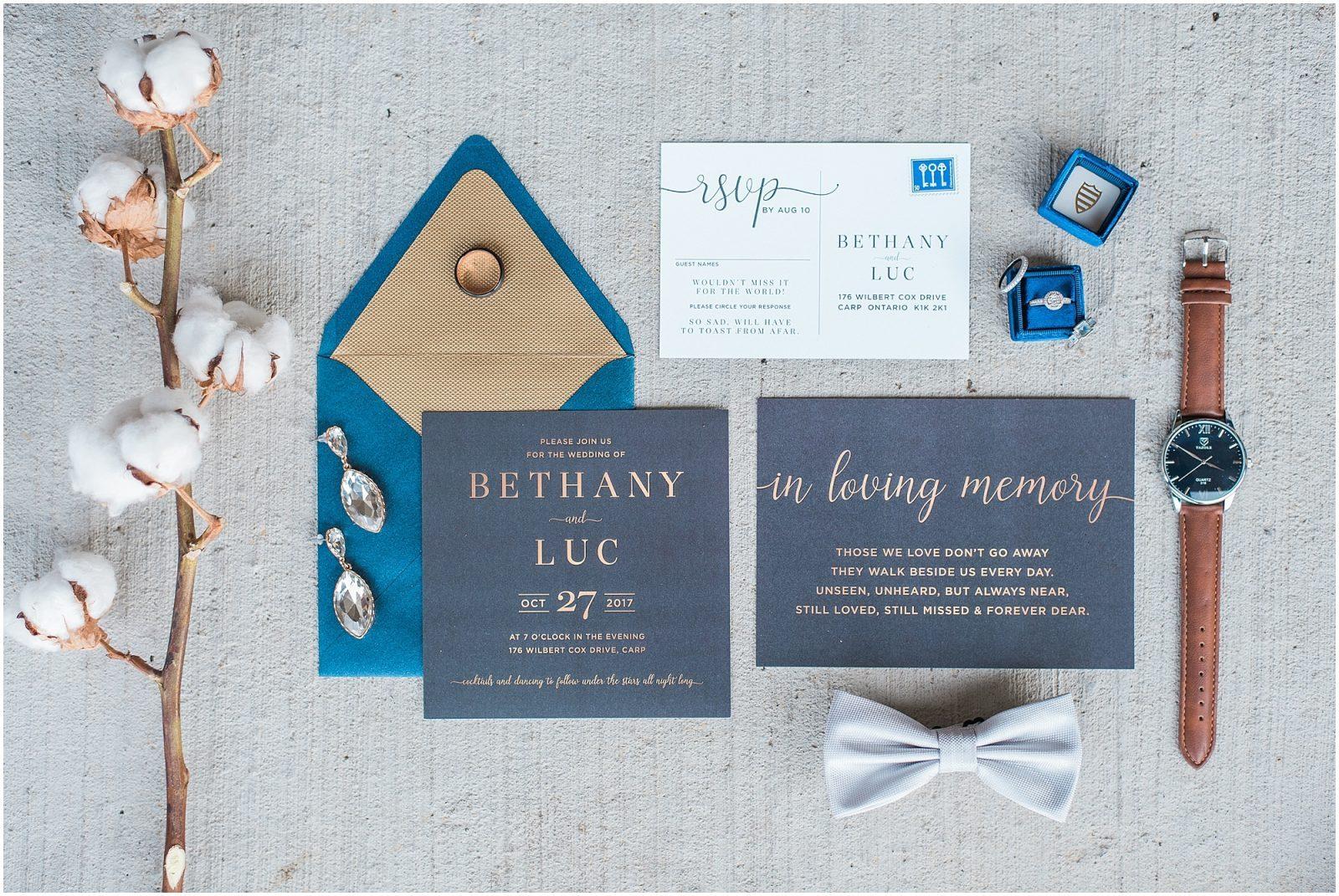 0003 Bethany and Luc - Fall Backyard Ottawa Wedding - Copper and Navy - PhotosbyEmmaH.jpg