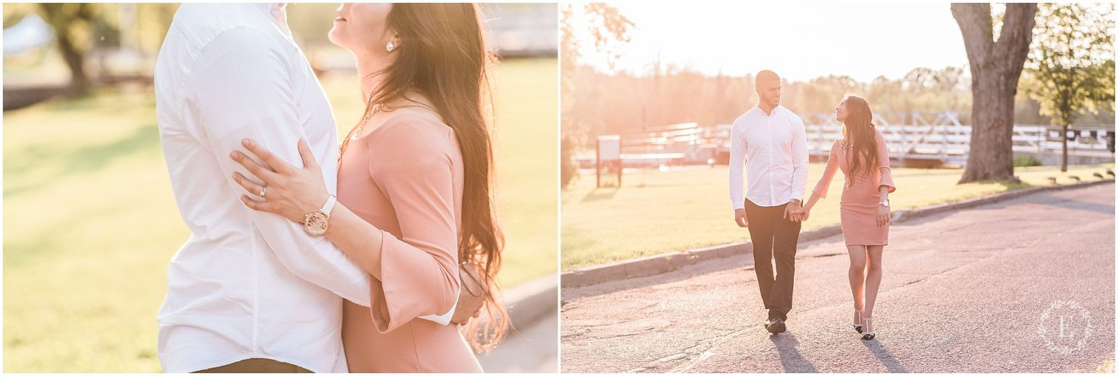 Engagement - Long Island Locks - Ottawa - golden hour