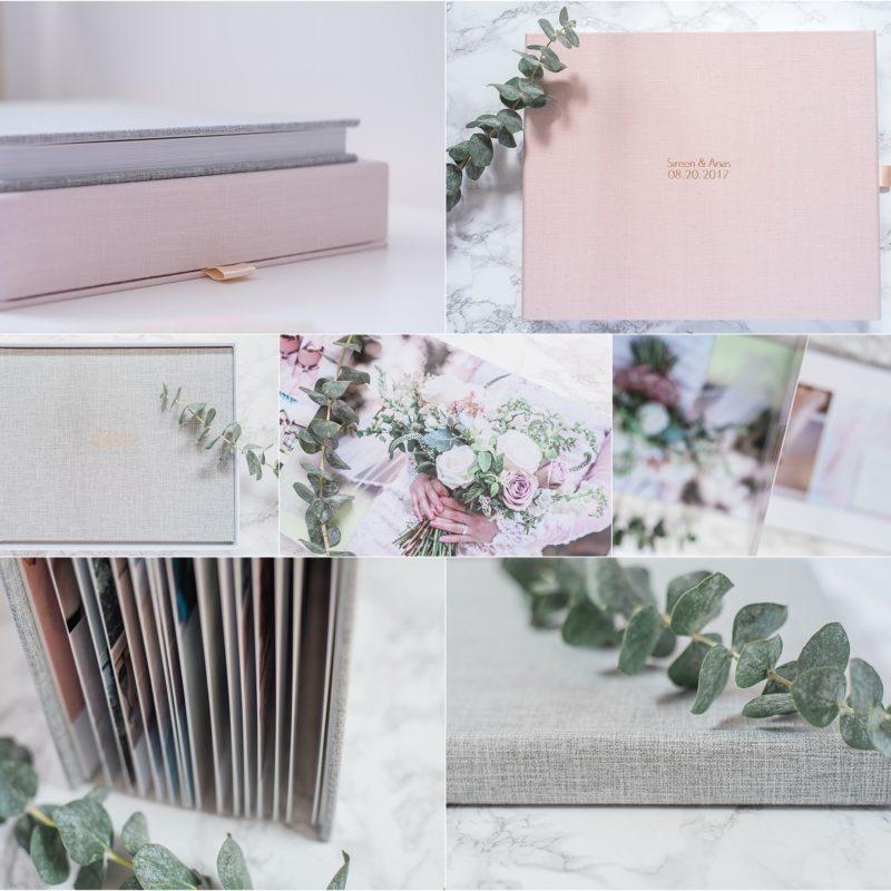 wedding album ottawa, linen cover, fine art printing, handmade