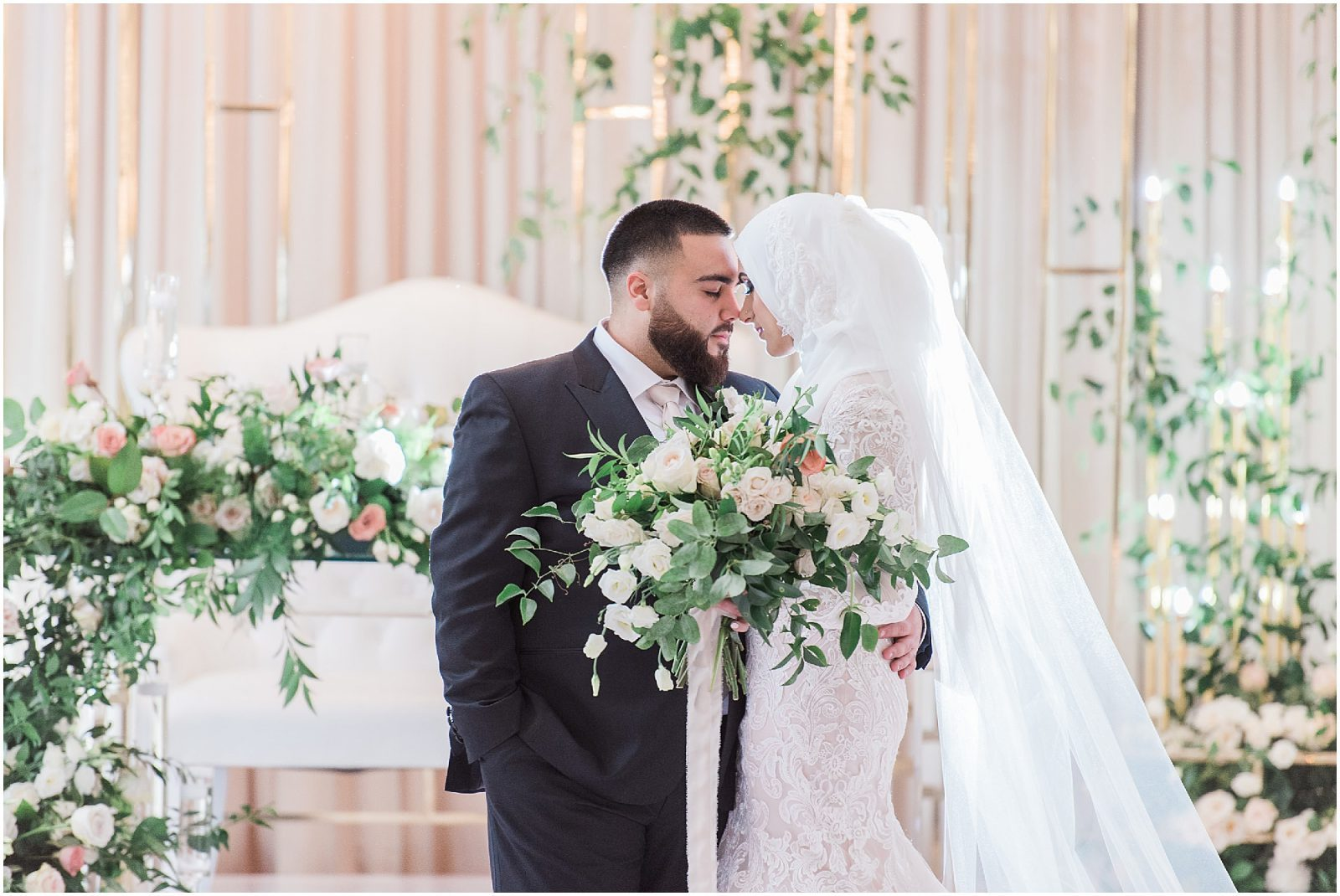 orchard view wedding ottawa - lush green, luxury wedding ottawa - muslim bride, arab bride