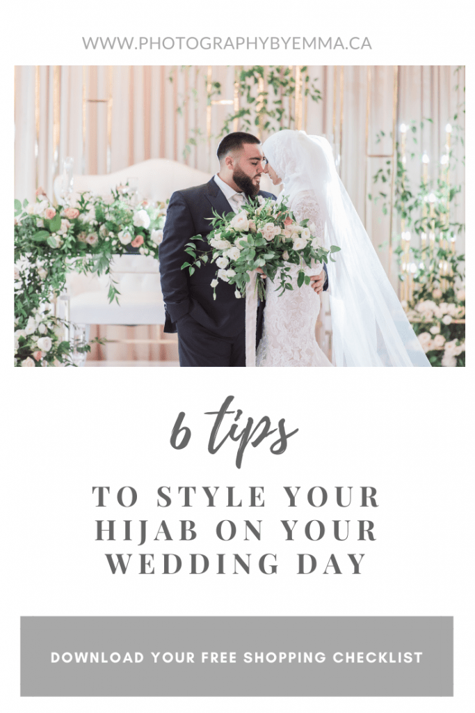 How To style your hijab on your wedding day - muslim bride and groom