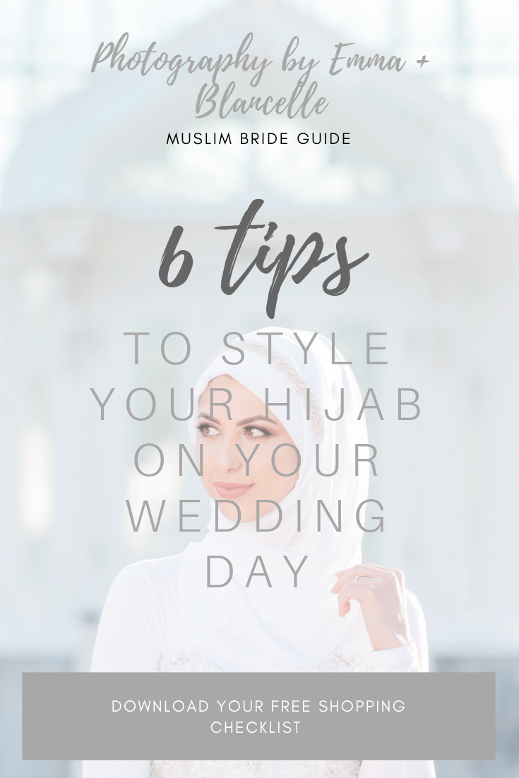 How To style your hijab on your wedding day