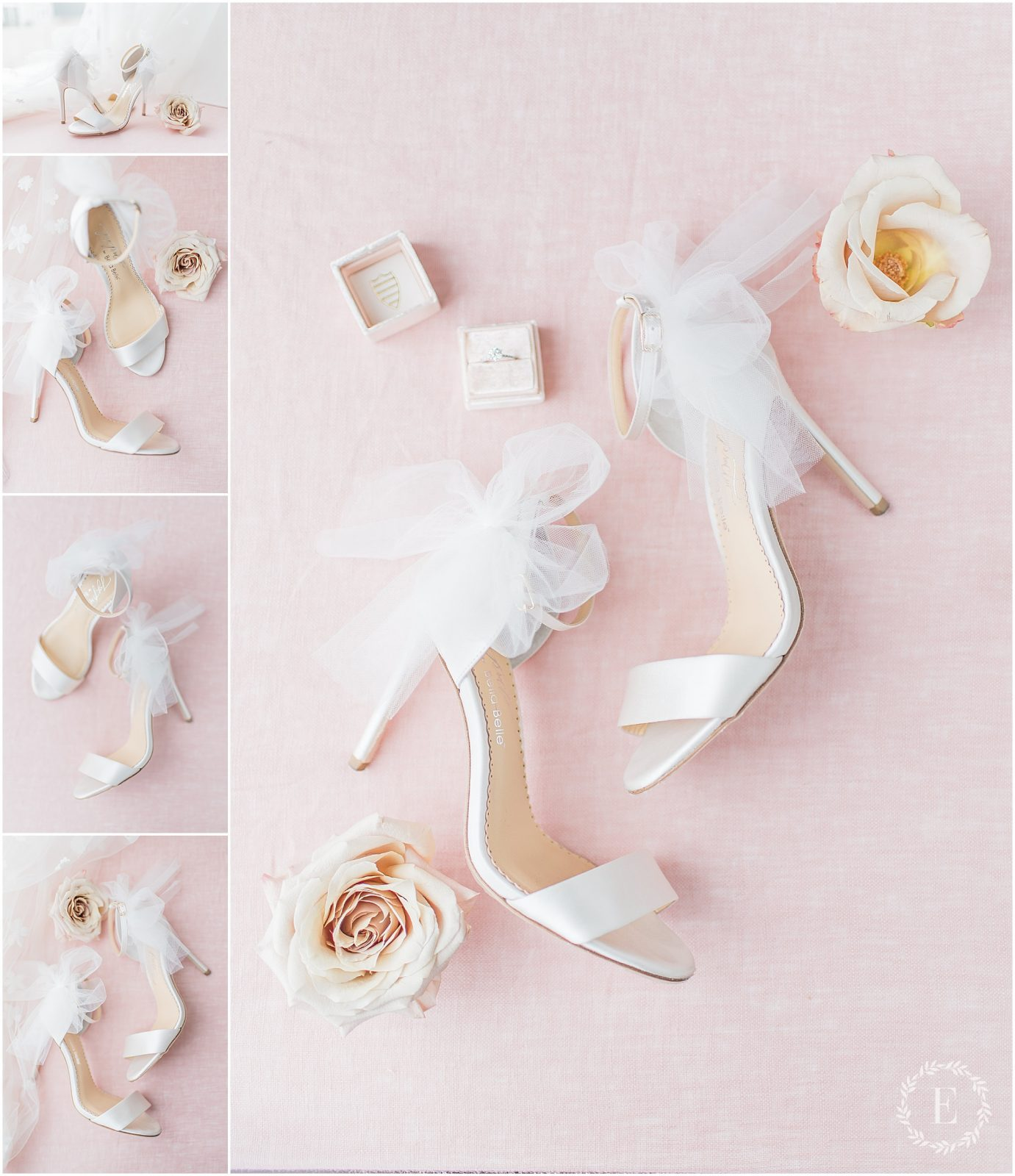 5 - Bella Belle for Fairy Dreams Bridal - tulle and satin wedding sandals