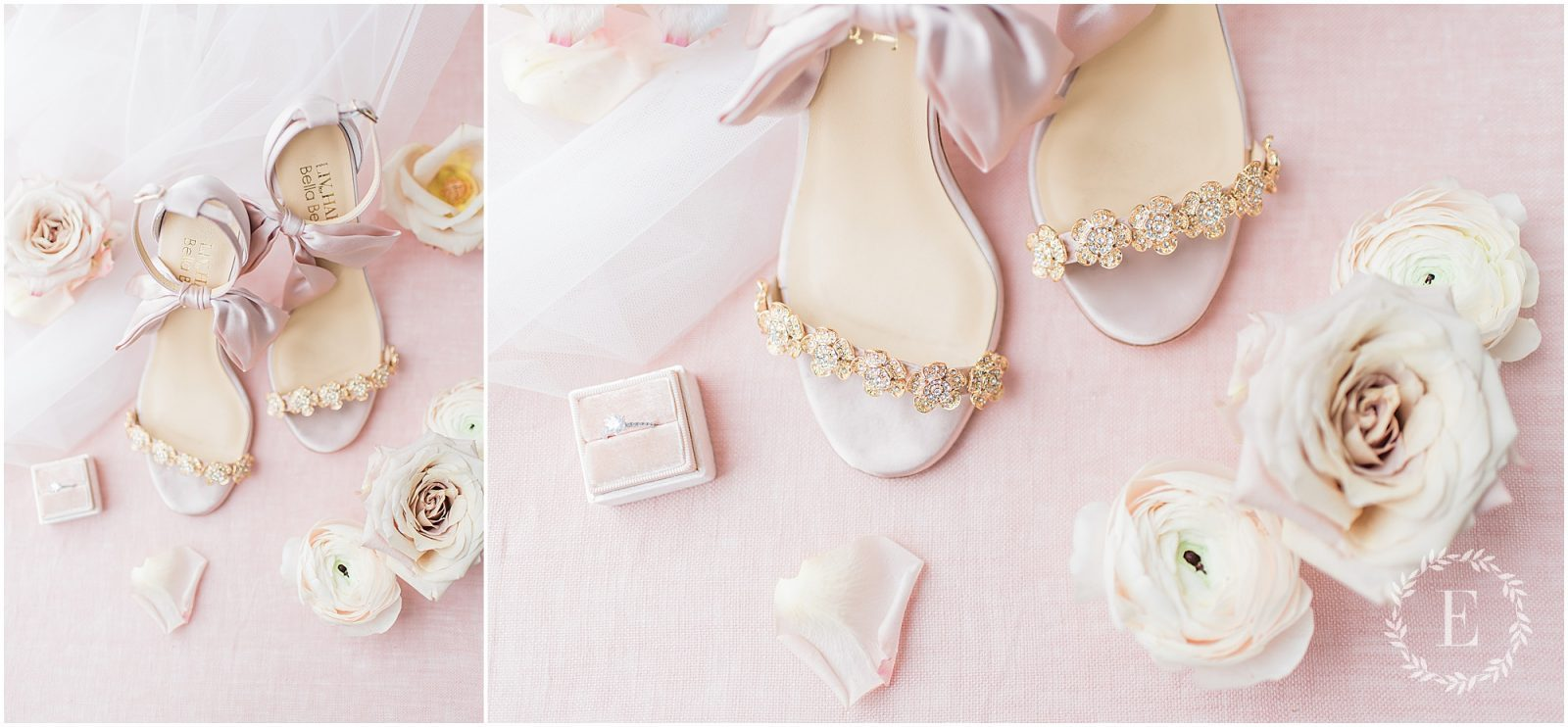 50 - Bella Belle for Fairy Dreams Bridal - PhotosbyEmmaH 2019 - pink satin wedding sandals - pink bow