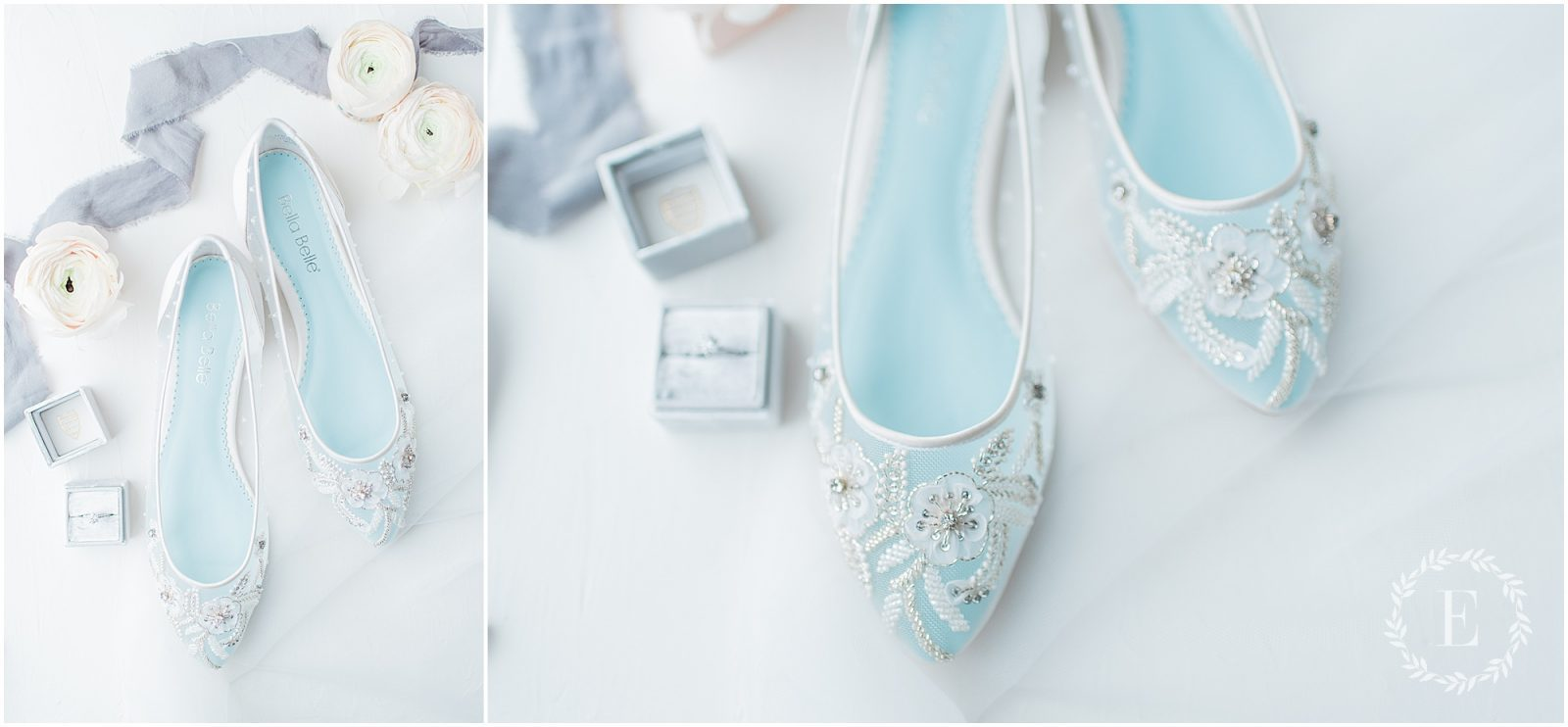 64 - Bella Belle for Fairy Dreams Bridal - PhotosbyEmmaH 2019- something blue wedding flats with pearl embroidery