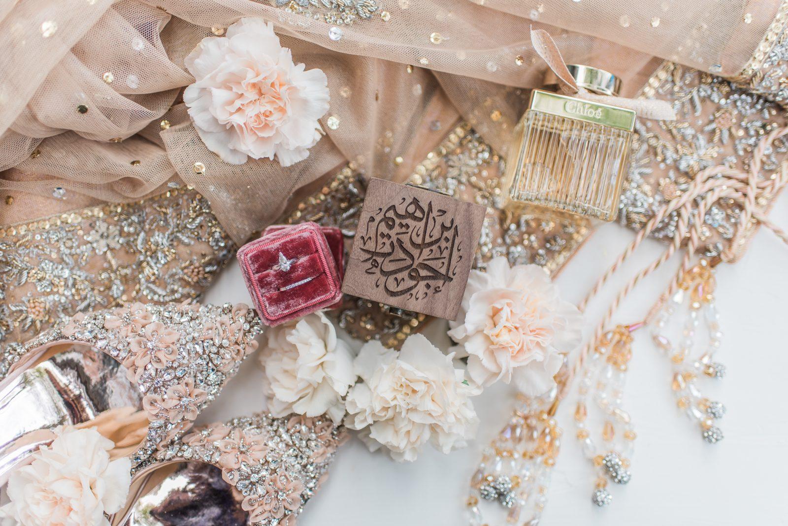 toronto wedding at york mills gallery aga khan details, custom wooden engraved arabic calligraphy, muslim wedding