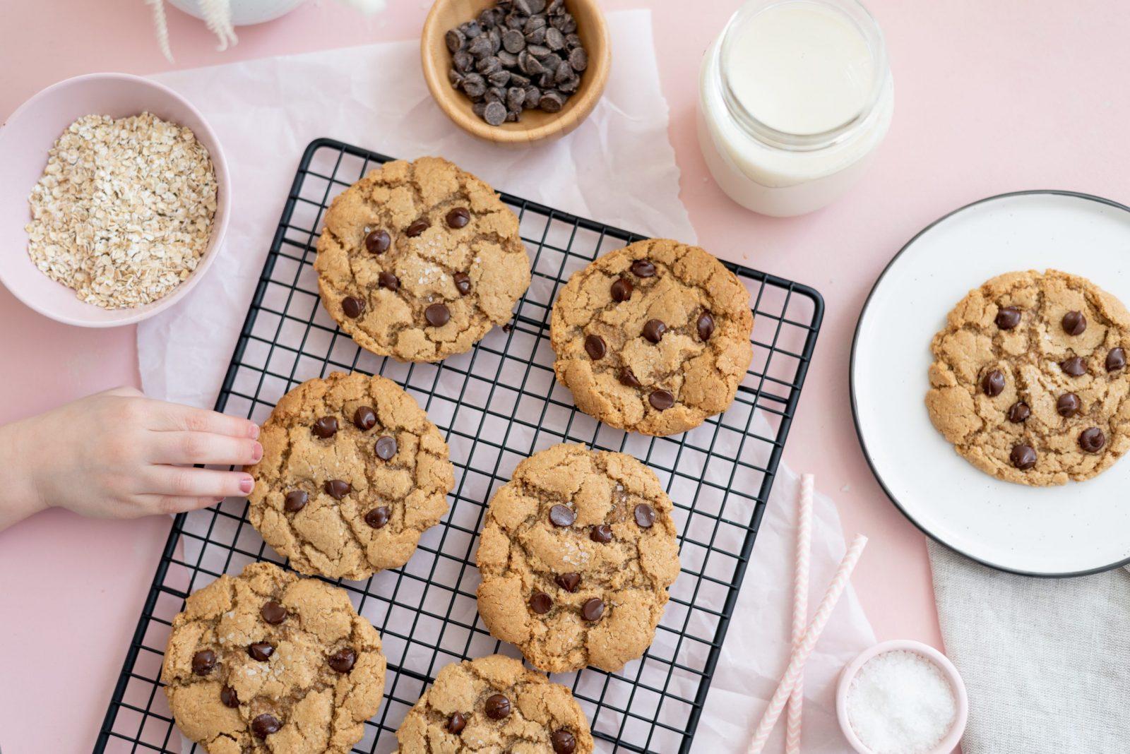 best vegan salted oatmeal chocolate chip cookies